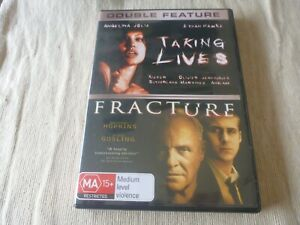 Taking Lives / Fracture (2x DVD) Region 4 Angelina Jolie Anthony Hopkins