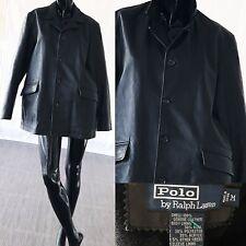 Polo Ralph Lauren Leather Jacket Motorcycle Black Jacket Size Medium