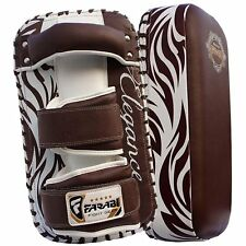 Leather Thai Pads Strike Kick Training MMA Kick Training Boxing Punch Pair x 2