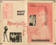THAT NAUGHTY GIRL CETTE SACREE GAMINE half sheet movie poster 22x28 BARDOT 1958