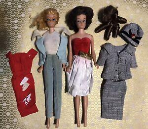 Swirl Ponytail & Fashion Queen Barbie Vintage Lot Sheath Sensation Red Flare