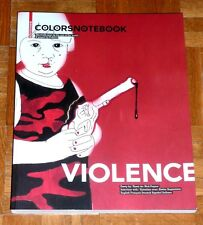 """COLORS NOTEBOOK """"VIOLENCE"""" Special Magazine by Fabrica (Oliviero Toscani)"""
