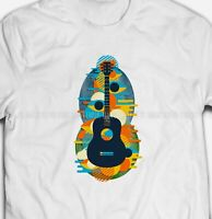 RETRO 60s SIXTIES ACOUSTIC GUITAR Music Hippies 100% Cotton Mens T-shirts Tee