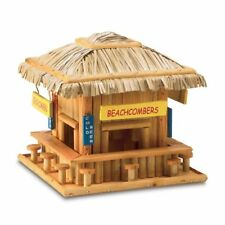 Beach Hangout Birdhouse Complete with Barstools Cute Garden Collectible Nice