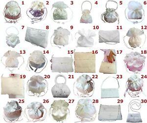 LadyMYP © Verschiedener elegante Brautbeutel, Brauthandtasche,Tasche weiß/ivory