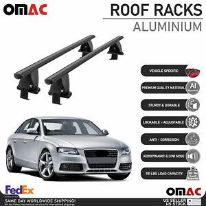 Fits Audi A4 Sedan 2009-2012 Smooth Top Roof Rack Cross Bar Carrier Rail Black