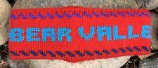 Vintage BEAR VALLEY Acrylic Headband Snow Winter Ski Skiing Snowboard USA Made