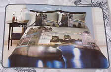 London Tower Bridge At Night Printed Single Bed Quilt Cover Set New