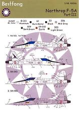 Bestfong Decals 1/48 NORTHROP F-5A FREEDOM FIGHTER Republic of China AF Part 3