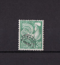 timbre France préoblitéré   Coq  24 f vert bleu      n° 114   obl