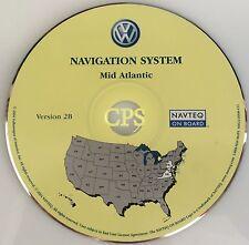 2004 2005 VOLKSWAGEN TOUAREG VW NAVIGATION DVD UPDATE 2B MID ATLANTIC MAP
