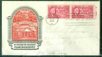 US FDC 931-FRANKLIN D.ROOSEVELT CANCL.AUG.24-1945 WARM SPRINGS GA.. ADDR.