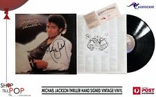 MICHEAL JACKSON THRILLER VINTAGE 1982 VINYL HAND SIGNED + 2 x COA FREE SHIPPING