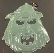 "Glow In The Dark Witch Face Prop Decoration For Halloween 16""x 9 1/2"""