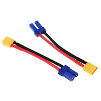 XT60 Female to Male EC5 Silicone Wire Connector Adapter Cable Converter