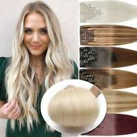 BEST Hair Extensions Full Head Double Weft 100% Remy Real Human Hair Thick long