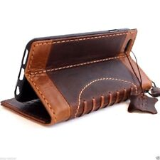 retro real leather Case fit apple iphone 6s book wallet cover sprot slim 6 s