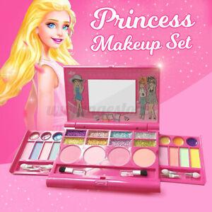 Princess Makeup Set & Kit For Kid Girl Eyeshadow Lip Gloss Blushes Beauty Tools`
