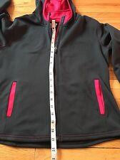 Women's PEARL IZUMI Long Sleeve Hooded Zip Jacket Lightweight Running Bike Black