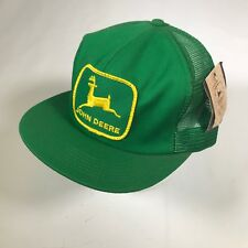 Vintage JOHN DEERE Green Trucker Hat Cap Snapback MESH K-Products USA TAG [CT02]