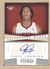 James Johnson 49 2013-14 Panini Timeless Validating Marks Autograph Auto
