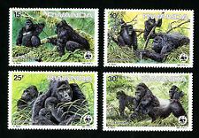 Rwanda Stamps # 1208-11 VF OG NH Scarce WWF Set of 4