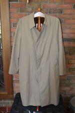 Vintage Men's London Fog Zipper Lined Raincoat Trench Coat Tan in EXC Condition