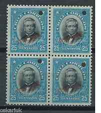 CHILE 1911 Presidents American Bank Note Montt block of 4 MNH SPECIMEN