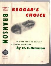 1953 1st BEGGAR'S CHOICE H. C. Branson w/dj Inner Sanctum