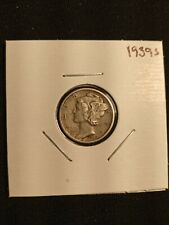 New listing 1939 S Mercury Dime 90% Silver Coin