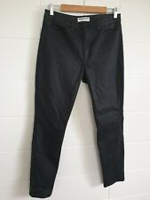 AMERICAN APPAREL Black Wet Look Jeans sz 32 Ankle Length