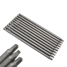 10PCS Square Drill Bit Set S2 Steel 1/4 Inch Hex Shank For Pneumatic Screwdriver