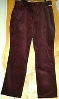 NYDJ MARILYN STRAIGHT Burgundy COLOR Size CHOICE 18W 20W OR 24W  Corduroy Jeans