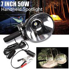 7inch LED Handheld Spotlight Spot Beam Flashlight Torch Offroad Camping Hunting