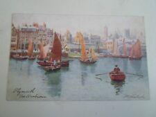 Old Colour Postcard Plymouth The Barbican H B Wimbush Oilette Tuck+Son 1906