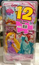 12 Puzzle Party Pack Disney Princess and More Birthday Party Favors. New in Box