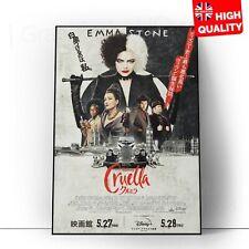 Cruella Move 2021 International Style Poster *LAMINATED* Print   A5 A4 A3 A2 A1