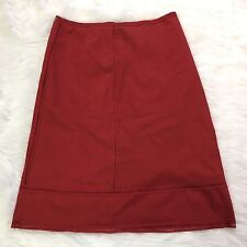 CYNTHIA STEFFE A Line Cotton Skirt Eyelet Type Trim Red Size 4