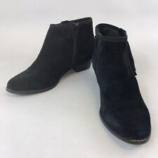 Miss KG Kurt Geiger 39 UK6 Black Leather Ankle Zip Tassle Fringe Cowboy Boots