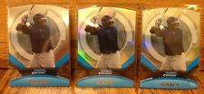 2011 BOWMAN CHROME MIGUEL SANO FUTURES DIE CUT ROOKIE CARD LOT OF 3. 2 REFRACT