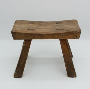 Small wooden Classic stool, old, Solid wood, Chinese antique Home