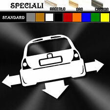 adesivo sticker RENAULT CLIO 2 tuning down-out dub prespaziato,auto decal