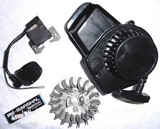 Seilzugstarter + Polrad + Zündspule + Zündkerze  Pocketbike Dirtbike Miniquad 49