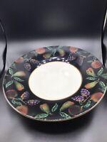 "Varm Ceramica Hand Decorated Made in Italy 15"" Bowl Dark Boarder"