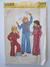 Vtg Simplicity Sew Pattern 6533 Girls Boys 4T Western Style Jacket Top Pants