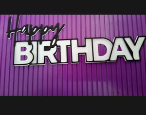 Sentiment Die Cuts,large Happy Birthday Die Cuts X 3 Size App 15 X 5.8 Cm
