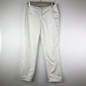 Nike Golf Tour Performance Dri-Fit Womans White Jeans Pants Size 8