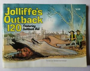 Jolliffe's Outback No 120 featuring Saltbush Bill. Australian humour. Postcards