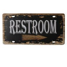 Iron RESTROOM Sign Rustic Auto License Plate Beach Bar Restaurant Home Decor