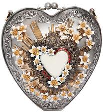 New DOLCE&GABBANA Sacred Heart Flower Runway Crystal Embellishe Sicily Bag Purse